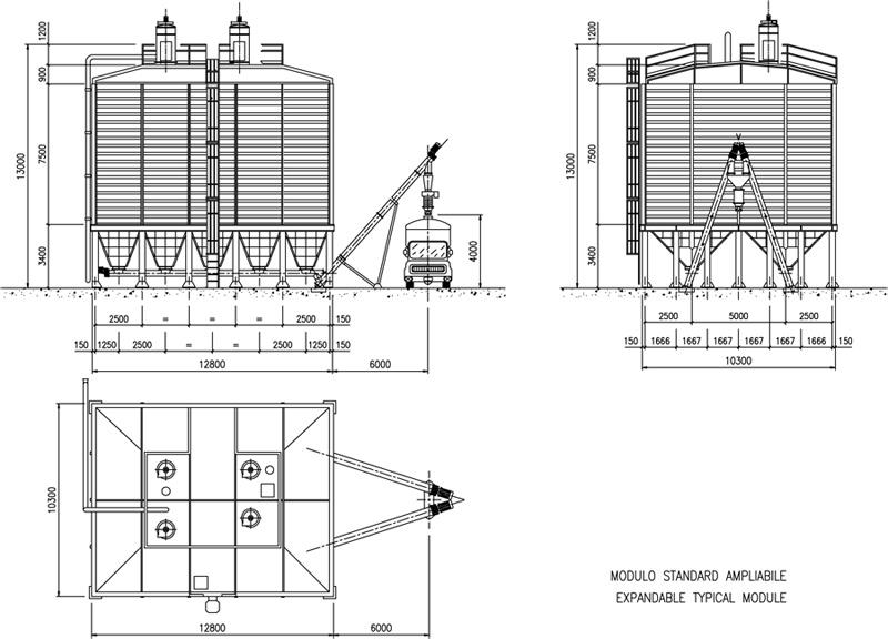 план размещения силосного терминала